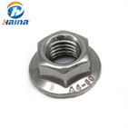 Stainless Steel A2-70 A4-80 DIN6923 Hex Flange Nut